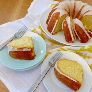 Lemon Buttermilk Pound Cake recipe and photos at diginwithdana.com