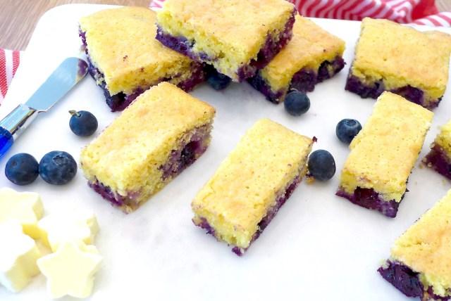 Jiffy Blueberry Cornbread