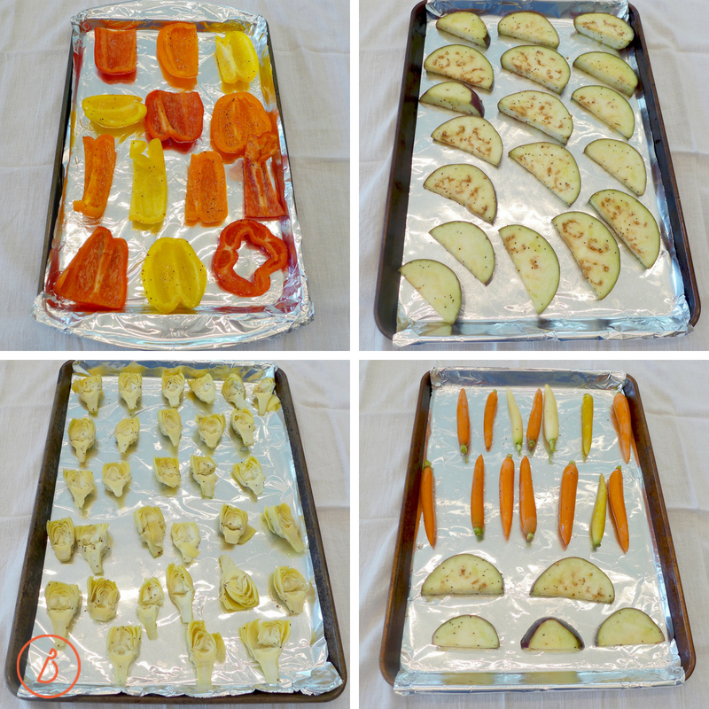 Use foil for easy clean up to roast these delicious vegetables. Easy roasted summer vegetables at diginwithdana.com