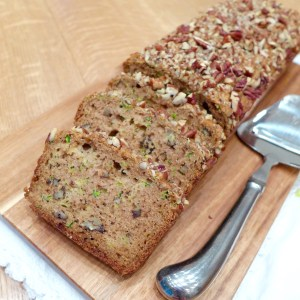 Zucchini Pecan Quick Bread recipe at diginwithdana.com