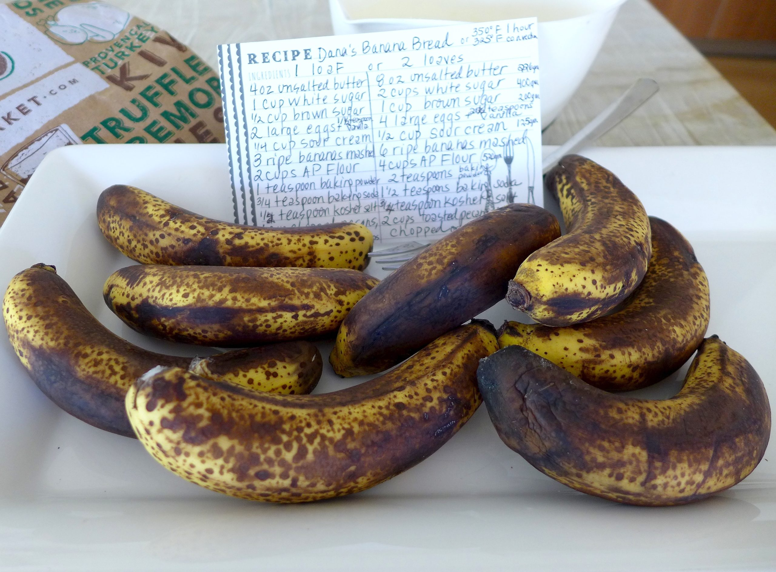 The riper the bananas, the better