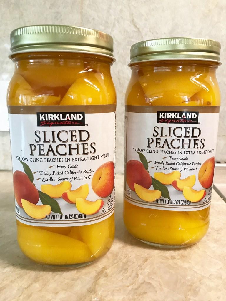 Drain fruit before using in Peachy Keen Fruit Cobbler at diginwithdana.com