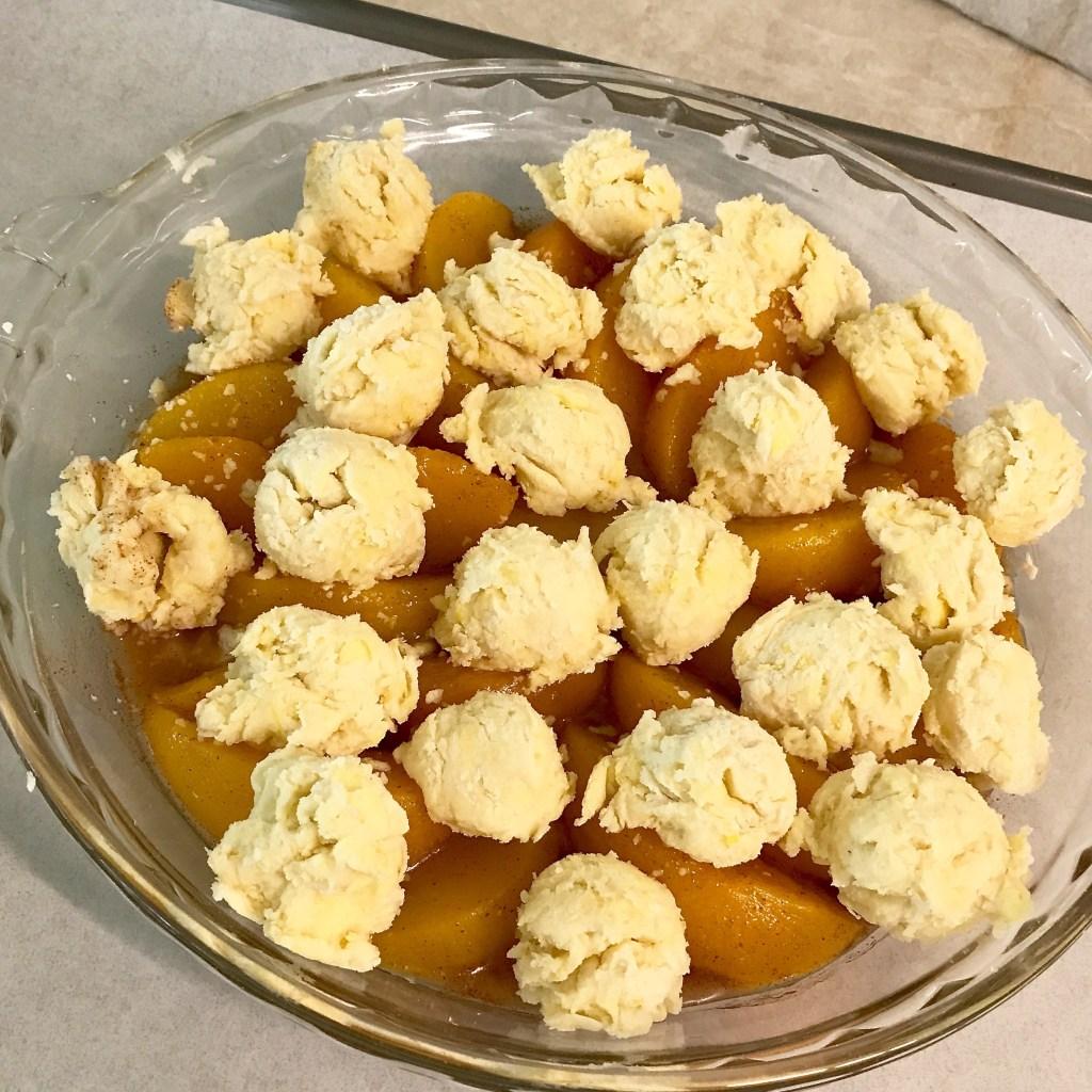 Ready to bake Peachy Fruit Cobbler recipe at diginwithdana.com