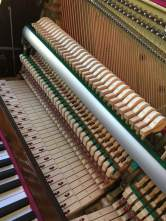 Tuning a console piano
