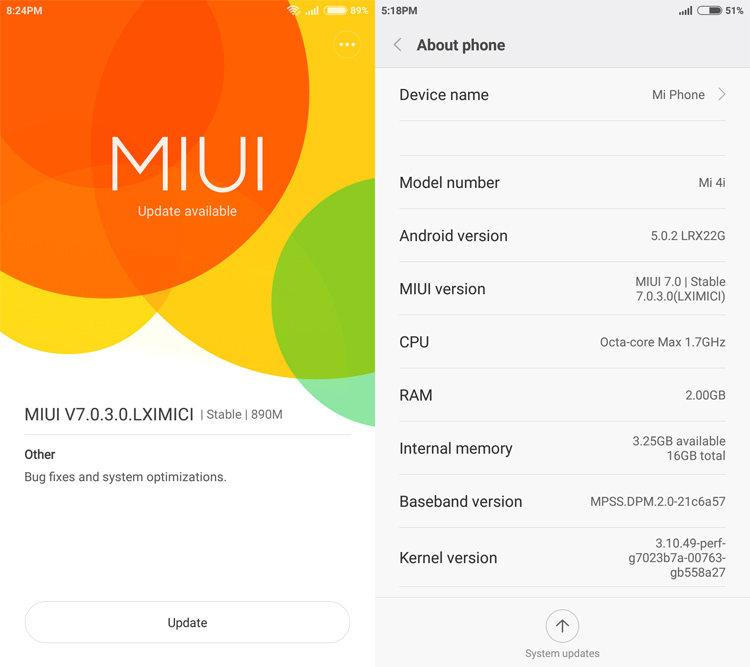 MIUI 7 software update is available now for Xiaomi Mi4i