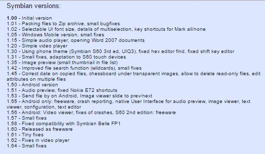 Xplore symbian version history