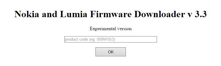Nokia Firmware Downloader