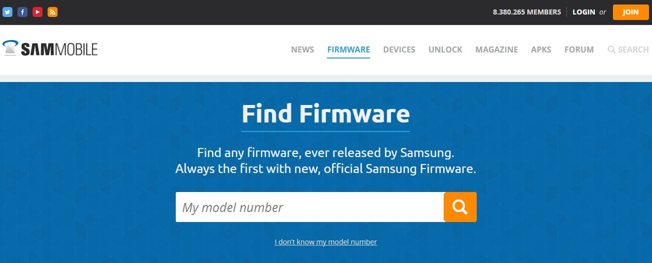 Sign up on sammobile and get unlimited stock firmwares with full.