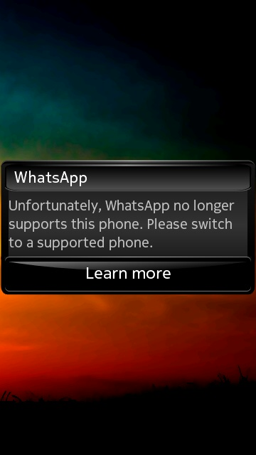 How to get WhatsApp working again in Symbian S60 phones?