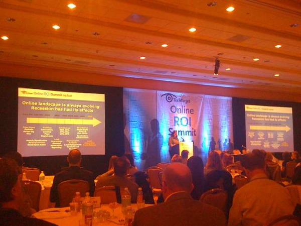Marilou Barsam at the TechTarget Online ROI Summit