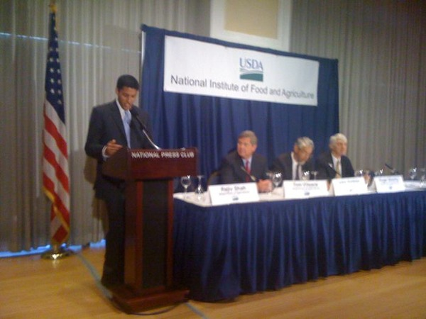 Raj Shah at the NIFA launch