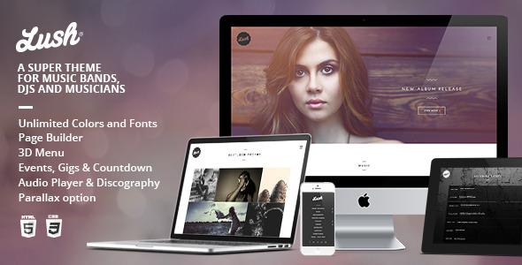 Lush - WordPress Entertainment Themes