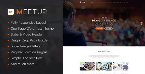 meetup - WordPress Entertainment Themes