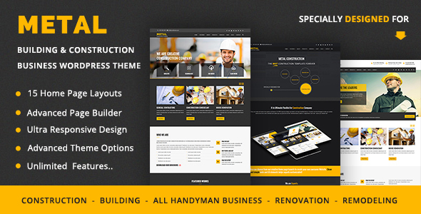 metal - construction WordPress themes