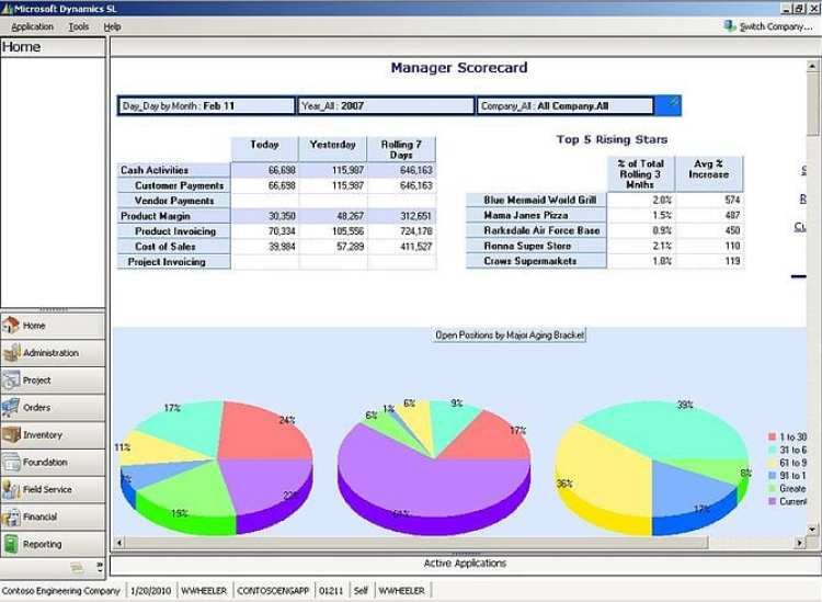 Microsoft Dynamics SL Business Analytics