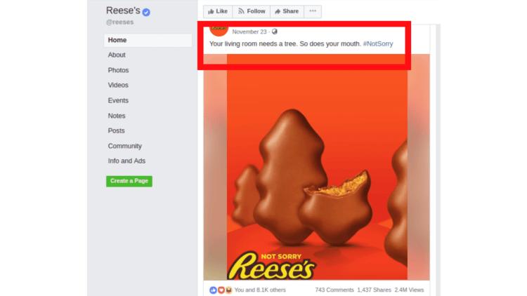 facebook sample screenshot