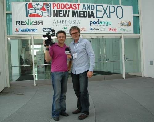 In front of New Media Expo