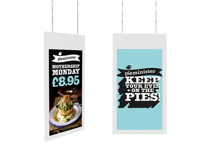 Hanging Double Sided Digital Poster