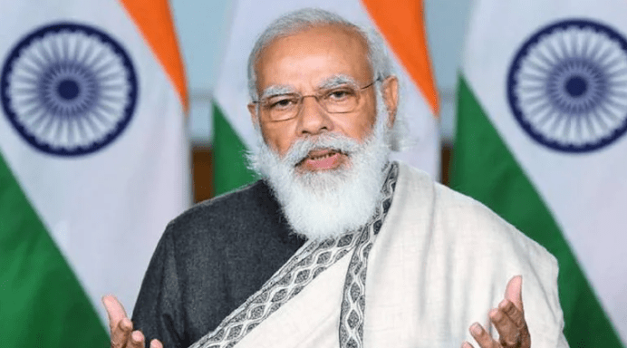 Modi Interrupted By Parliament Protests