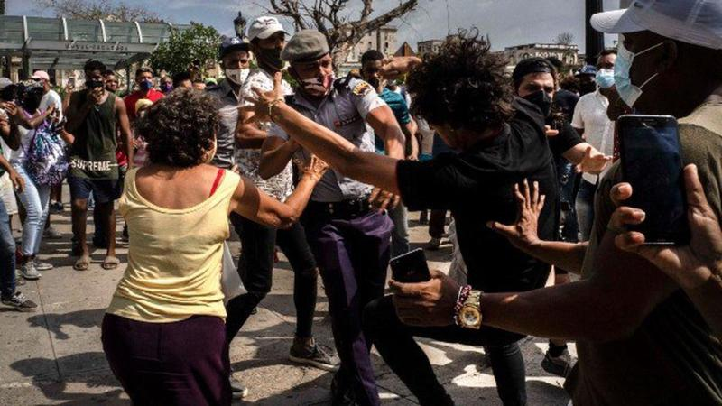 Cuba Blames US After Molotov Attack At Paris