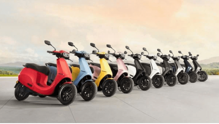 Ola Electric Scooter Colours Unveiled
