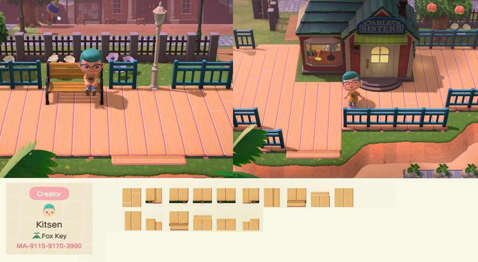 Animal Crossing: New Horizons New Tiles, Streets, Wood ... on Animal Crossing New Horizons Wood Design  id=23714