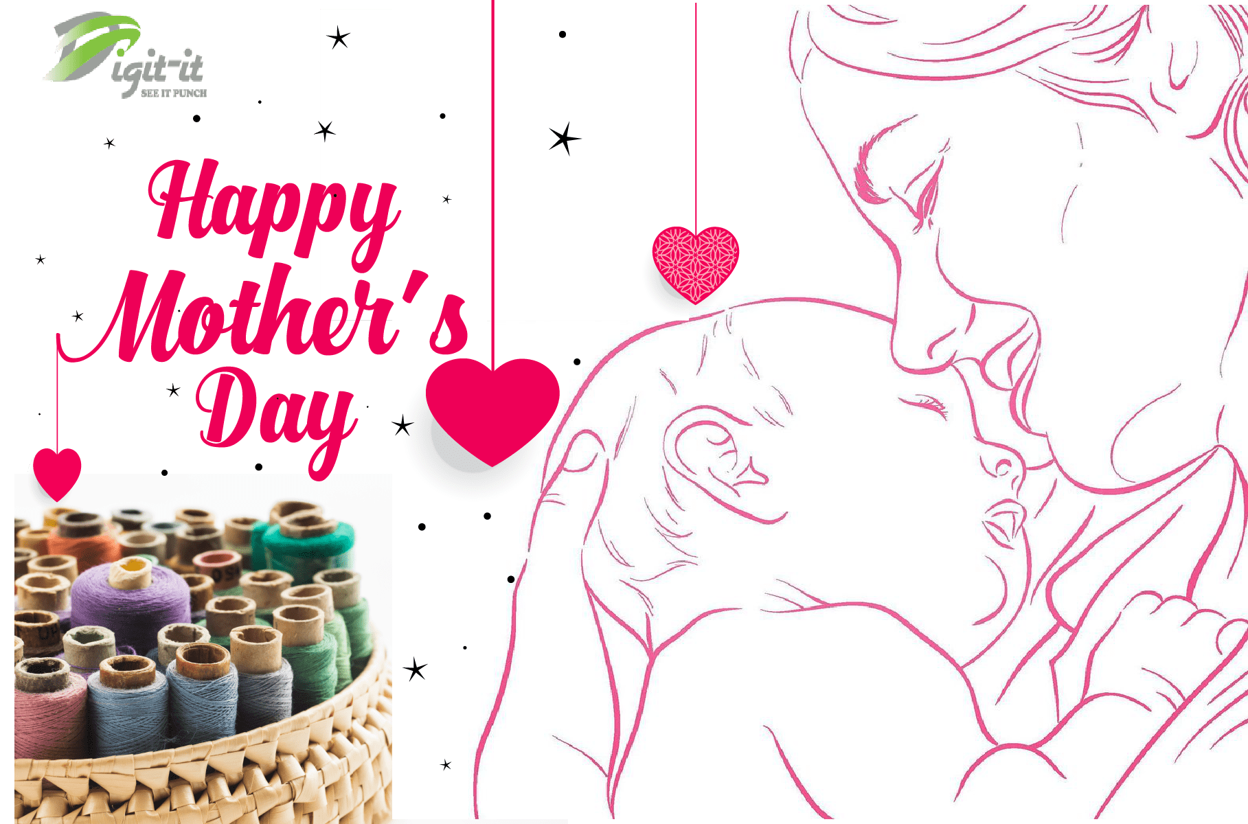 Embroidery Designing for Mothers Day