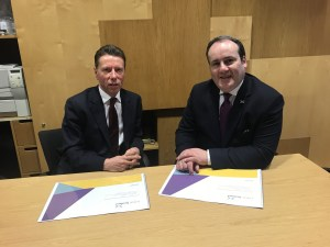 Fintech Scotland CEO Stephen Ingledew & Minister for xxx Paul Wheelhouse