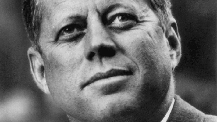 Lost JFK speech: JFK portrait by By White House Press Office