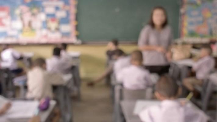 blurred classroom