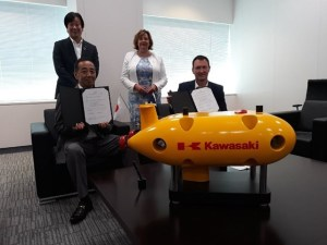 Kawasaki Heavy Industries, Fiona Hyslop & a yellow submarine