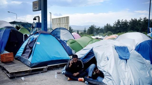 migrant tent
