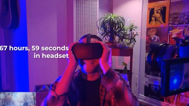 Man Week Virtual Reality Headset