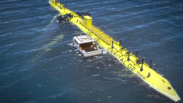 Most powerful tidal turbine