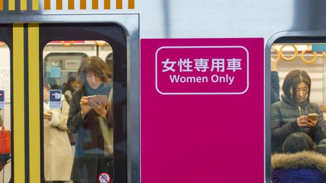 anti-groping women's only subway in Japan
