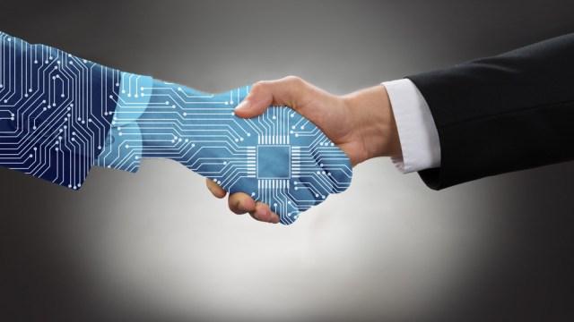 Artificial Intelligence handshake