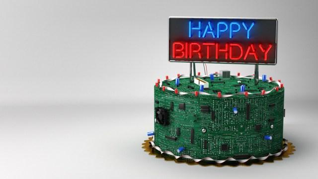 Geek Birthday Cake