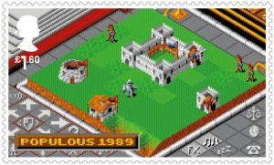 Video Games Populous 1989 stamp