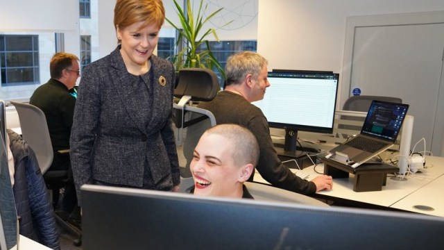 Nicola Sturgeon and Encompass Staff