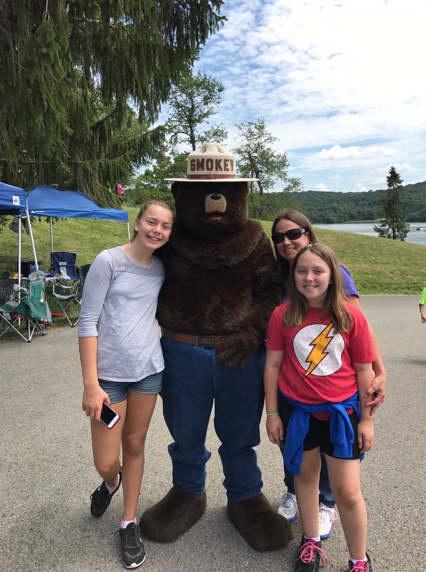 Moraine Regatta with Smokey the Bear