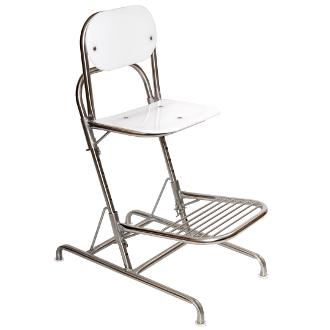 Cadeira alta em inox com apoio para os pés ws-940
