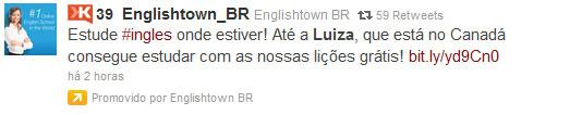 Twitter Patrocinados Menos a Luiza que está no Canadá