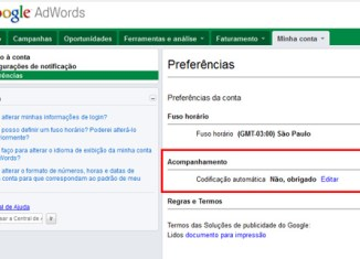 Configuração do Gclid do Google AdWords