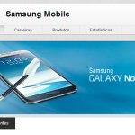 Página de Empresa da Samsung