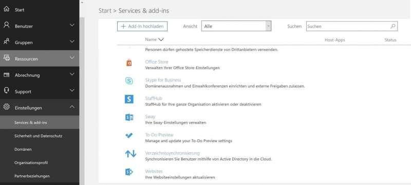 Aktivierung von Microsoft Office 365 To-Do App im Office 365 Portal