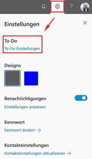 Im Office 365 Portal oder direkt in der App wird das Feature für die Integration der Aufgaben aus Planner aktiviert