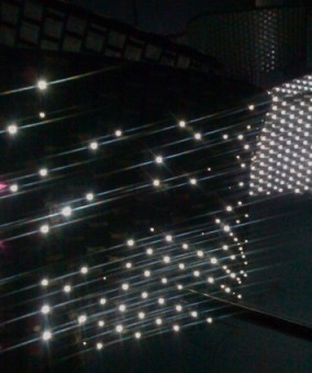 LEDs react as fields change
