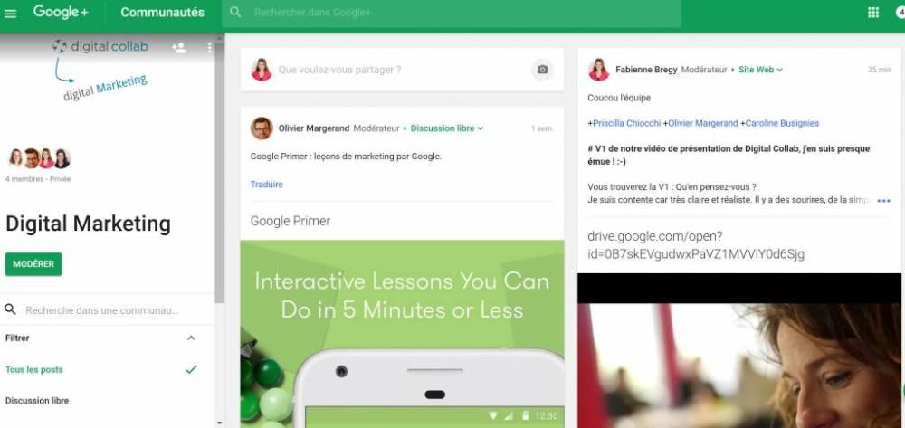 Faciliter l'adhésion des hommes : communautés d'intérêt Google+
