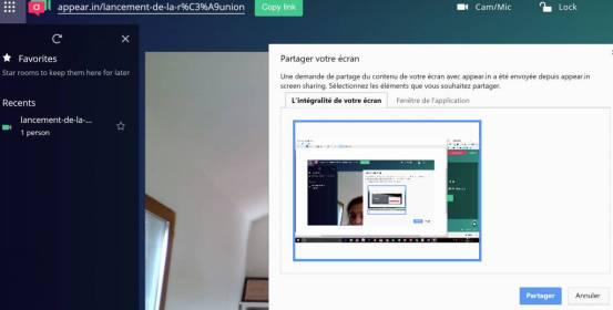 Réunion productive : Partage et présentation en call conf.