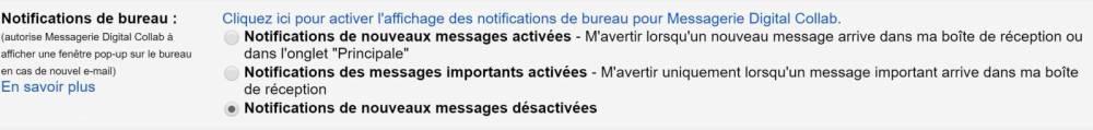 Réduire les notifications - Gmail